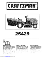 CRAFTSMAN 25429 Instruction Manual