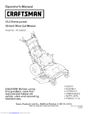 CRAFTSMAN 247.889330 Operator's Manual