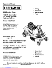 CRAFTSMAN 536.270321 Operator's Manual