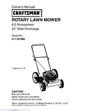CRAFTSMAN 917.387480 Owner's Manual