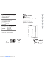 xpelair premier dx200t and manuals rh manualslib com
