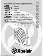 xpelair lv100t and manuals rh manualslib com