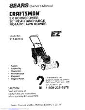 craftsman ez 917 387140 manuals rh manualslib com craftsman eager 1 lawn mower parts manual sears eager 1 lawn mower parts