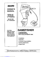 SEARS GAMEFISHER 225 581508 OWNER'S MANUAL Pdf Download