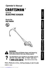 CRAFTSMAN 358.796500 Operator's Manual