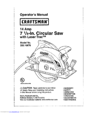 Craftsman 7 14 in circular saw with laser trac and led worklight craftsman 7 14 in circular saw with laser trac and led greentooth Images