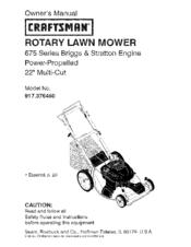 craftsman 917 376460 manuals rh manualslib com Craftsman GT6000 Garden Tractor Manual Craftsman 917 Lawn Mower Parts
