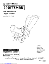 CRAFTSMAN 247.77605 Operator's Manual