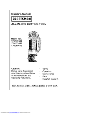 CRAFTSMAN 170.172440 Owner's Manual
