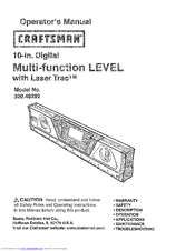 CRAFTSMAN 320.48292 Operator's Manual