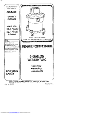 CRAFTSMAN 113.177360 Owner's Manual