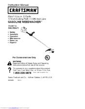 CRAFTSMAN WEEDWACKER 358 795571 INSTRUCTION MANUAL Pdf Download