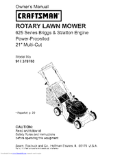 craftsman 917 370750 owner s manual pdf download rh manualslib com craftsman 675 lawn mower parts craftsman 675 lawn mower owner's manual