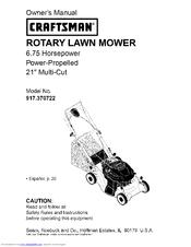 craftsman 917 370722 manuals rh manualslib com craftsman lawn mower manuals online craftsman lawn mower manual pdf