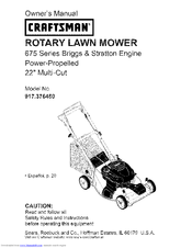 craftsman 917 376450 owner s manual pdf download rh manualslib com briggs and stratton 675 lawn mower owner's manual briggs and stratton 675 lawn mower owner's manual