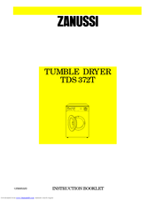 Zanussi TDS 372T Instruction Booklet