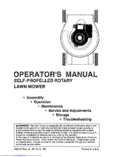 Craftsman Lawn Mower Operator's Manual