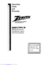 Zenith Sentry 2 Series Operating Manual & Warranty
