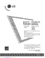 lg 50pb4da 50 plasma tv manuals rh manualslib com tv lg 50 plasma manual lg 50 inch plasma manual