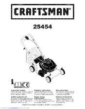 Craftsman 25454 Instruction Manual
