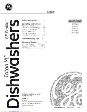 ge triton xl gsd6900 owner s manual pdf download rh manualslib com GE Triton XL Part Pp-Tf20 GE Triton XL Dishwasher Dispenser