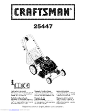 Craftsman 25447 Instruction Manual