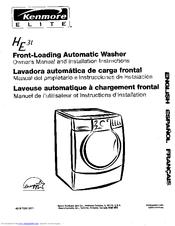 Kenmore He3t Elite Steam 4 0 Cu Ft Manuals