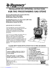 Regency GR78H and Installation And Operation Instruction Manual