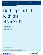 Inmarsat BGAN Hughes HNS-9201 Getting Started Manual