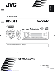 jvc kd bt1 instructions manual pdf download rh manualslib com jvc kd-bt1 installation manual JVC HDR1