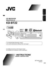 jvc kd bt22 manuals rh manualslib com JVC Everio Instruction Manual JVC User Manual