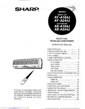 sharp ay a244j manuals rh manualslib com