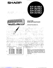 sharp ay a249j manuals rh manualslib com