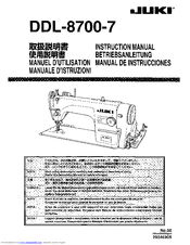 juki ddl 8700 7 manuals rh manualslib com Omega Sewing Machine Manual Omega Sewing Machine Manual