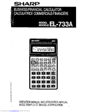 sharp el 733a manuals rh manualslib com Scientific Calculator Sharp EL 531 sharp calculator el-735 user manual