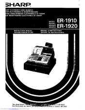 Sharp ER-1910 Instruction Manual