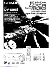 Sharp DV-600S Operation Manual