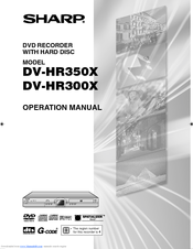 Sharp DV-HR300X Operation Manual