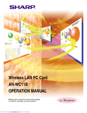 Sharp AN-WC11B Operation Manual