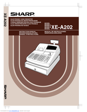 sharp xe a202 electronic cash register manuals rh manualslib com Sharp Cash Register Royal Alpha 9155Sc Cash Register User Guide