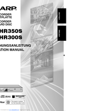 Sharp DV-HR350S Operation Manual