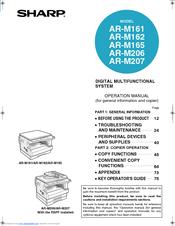 Sharp AR-M207 Operation Manual