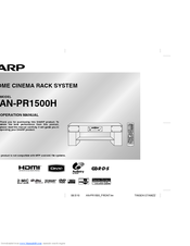 Sharp AN-PR1500H Operation Manual