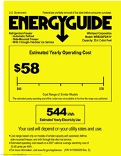 Whirlpool WRS325FDAW Energy Manual