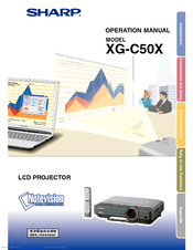 Sharp XG-C50XL Operation Manual