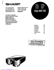 Sharp XG-NV1E Operation Manual