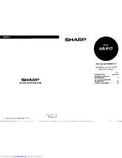 Sharp AR-P17 Software setupg guide Manuals