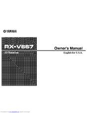 yamaha rx v667 owner s manual pdf download rh manualslib com Yamaha User Manuals Yamaha Rav 331 Manual