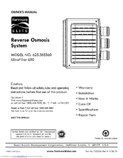 Kenmore Elite UltraFilter 650 Owner's Manual