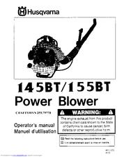 husqvarna bt145 manual
